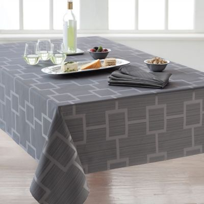 Origins™ Tribeca Microfiber 60 Inch X 120 Inch Oblong Tablecloth In Charcoal