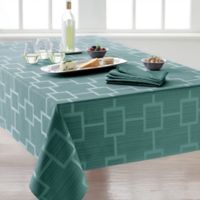 Origins™ Tribeca Microfiber 60-Inch x 140-Inch Oblong Tablecloth in Turquoise