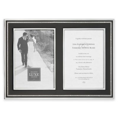 reed barton luxe collection 5 inch x 7 inch facets double picture - Double Picture Frames