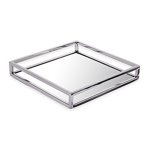 image of Classic Touch Mirrored Napkin Holder
