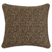 HiEnd Accents San Angelo Leopard European Pillow Sham in Black/Tan