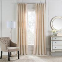 Cambria® Malta Euro Pleat 108-Inch Back Tab Window Curtain Panel in Parchment