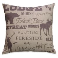 HiEnd Accents Crestwood Lodge Square Throw Pillow