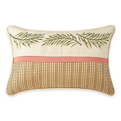Coral Bed Throw Pillows : Coral Beach Oblong Throw Pillow - Bed Bath & Beyond