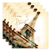 """Thirstystone® """"Je t'aime"""" Coasters (Set of 4)"""