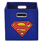 Modern Littles Superman Folding Storage Bin in Blue