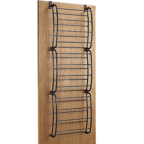 36 pair over the door shoe rack in bronze bed bath beyond for Door shoe organizer