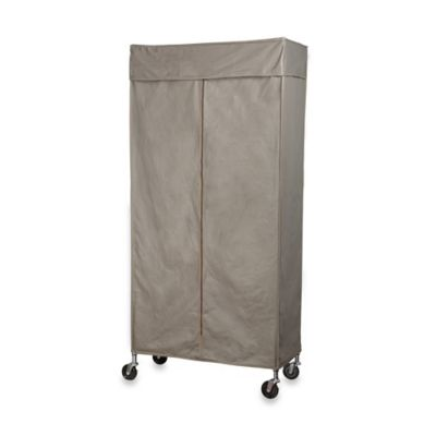 Image Of Extra Wide Heavy Duty Garment Rack In Chrome