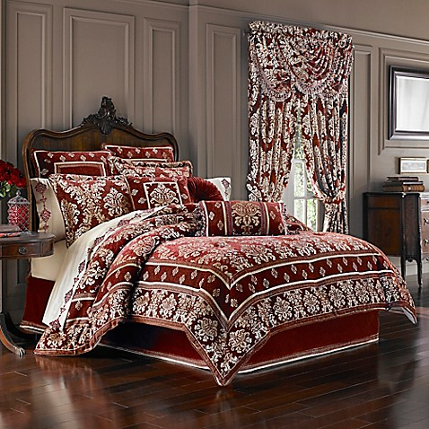 J Queen New York Dynasty Comforter Set In Red Bed Bath