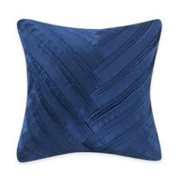 Vince Camuto® Lyon Signature V Square Throw Pillow in Blue