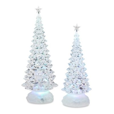 2 Piece LED Clear Christmas Tree With Stars