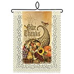 "Heritage Lace® ""Give Thanks"" Cornucopia Wall Hanging in Café"