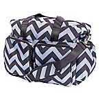 Trend Lab® Chevron Duffle Diaper Bag in Black/Grey