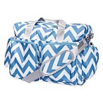 Trend Lab® Chevron Duffle Diaper Bag in Blue/White