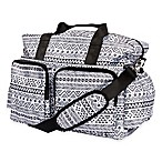 Trend Lab® Aztec Floral Duffle Diaper Bag in Black/White