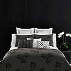 Vera Wang Home Pom Pom European Pillow Sham in Grey/White