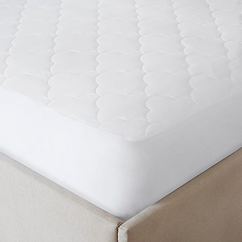 ... All Natural Cotton Filled Queen Mattress Pad from Bed Bath & Beyond