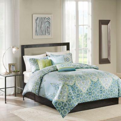 Madison Park Sarita King California King Duvet Cover Set in Blue. Buy California King Duvets from Bed Bath   Beyond