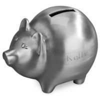 Large Piggy Bank in Pewter