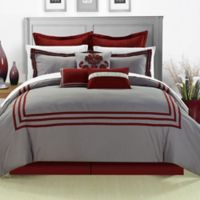 Chic Home Cosmo 8-Piece Queen Comforter Set in Red