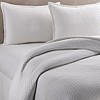 Vera Wang™ Puckered Diamond Matelassé King Coverlet in Bright White