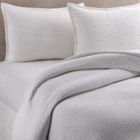 Vera Wang™ Puckered Diamond Matelassé Standard Pillow Sham in Bright White