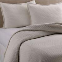 Vera Wang™ Puckered Diamond Matelassé Standard Pillow Sham in Ivory