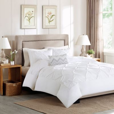 Madison Park Celine Full Queen Duvet Cover Set In White