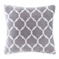 Madison Park Ogee Reversible Square Throw Pillow in Grey