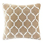 Madison Park Ogee Reversible Square Throw Pillow in Tan