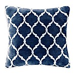 Madison Park Ogee Reversible Square Throw Pillow in Indigo
