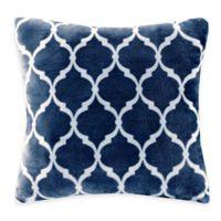 Madison Park Ogee Reversible Square Throw Pillow in Indigo