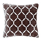 Madison Park Ogee Reversible Square Throw Pillow in Brown
