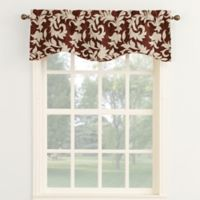 Legacy Woven Chenille 18-Inch Curved Window Valance in Russet