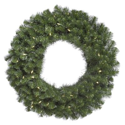 Buy metal lighted christmas wreaths from bed bath beyond vickerman douglas fir 48 inch pre lit wreath with warm white led lights aloadofball Image collections