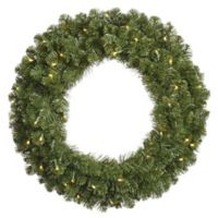 Vickerman Grand Teton 36-Inch Pre-Lit Wreath with Warm White LED Lights