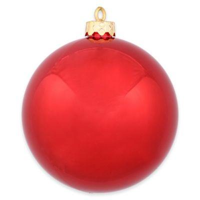 Vickerman 12 Inch Shiny Red Ball Ornament