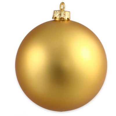 vickerman 1575 inch matte gold ball ornament - Bed Bath And Beyond Christmas Decorations