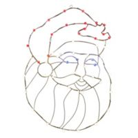 Vickerman 48-Inch Pre-Lit Wire Santa Head Outdoor Decoration