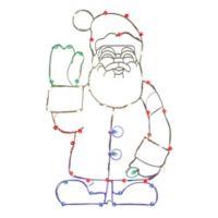 Vickerman 48-Inch Pre-Lit Wire Waving Santa Outdoor Decoration