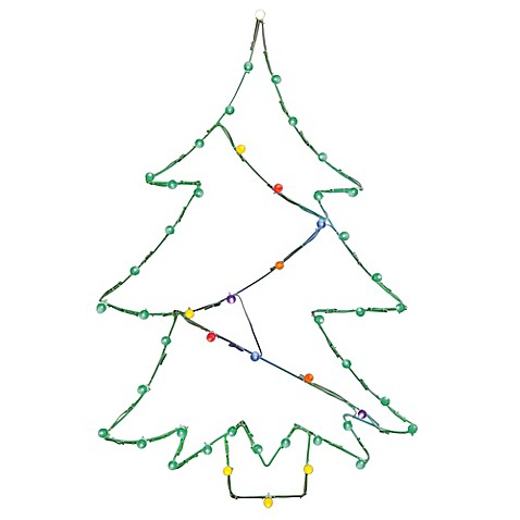 vickerman 48 inch pre lit wire tree outdoor decoration with multicolor lights bed