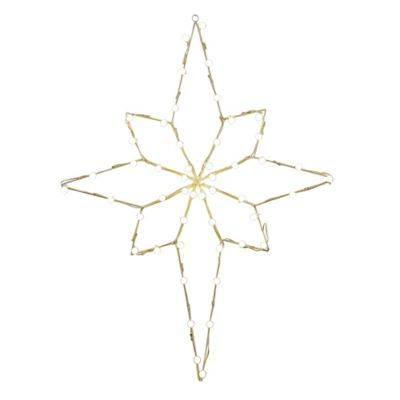 Buy outdoor decorative stars from bed bath beyond vickerman 48 inch pre lit wire star of bethlehem outdoor decoration in warm white mozeypictures Images