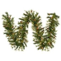 Vickerman Mixed Country 9-Foot Pre-Lit Garland in Green with Pinecones, Twigs, and Clear Lights