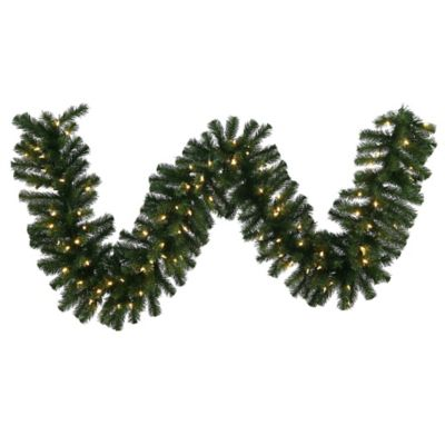 Vickerman Douglas Fir 9-Foot Garland in Green with Warm White LED Lights
