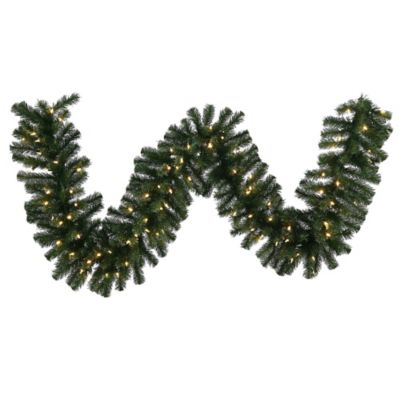 Garland With Lights Outdoor Buy led outdoor garland from bed bath beyond vickerman douglas fir 9 foot pre lit garland with warm white led lights workwithnaturefo