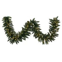 Vickerman Camdon Fir 50-Foot Garland in Green with Warm White LED Lights