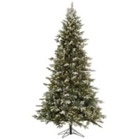 Vickerman 7.5-Foot Frosted Balsam Fir Pre-Lit Christmas Tree with Clear Dura-Lit Lights