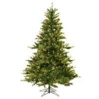 Vickerman 6.5-Foot Mixed Country Pine Pre-Lit Christmas Tree with Clear Lights
