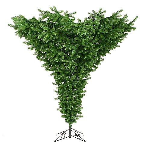 Vickerman 7 5 Foot Upside Down Christmas Tree With Stand