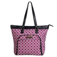 Jenni Chan Aria Broadway 18-Inch Computer Tote in Cranberry